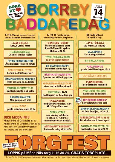 Affischen för Baddaredagen