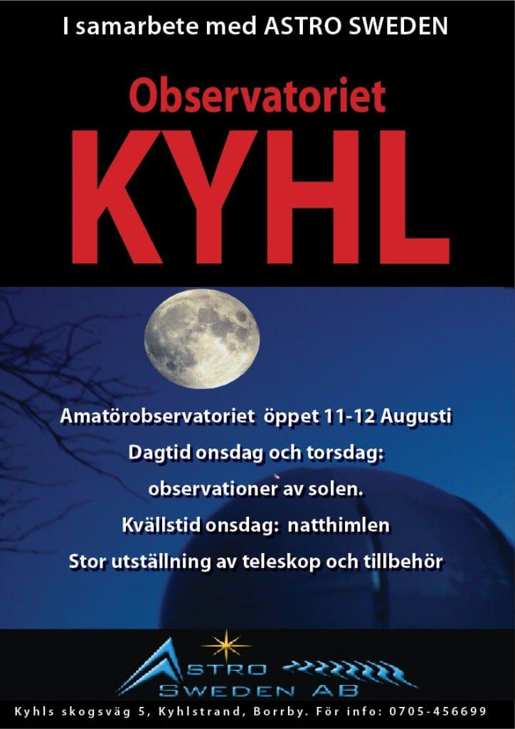 Öppet Hus i amatörobservatoriet i Kyhl