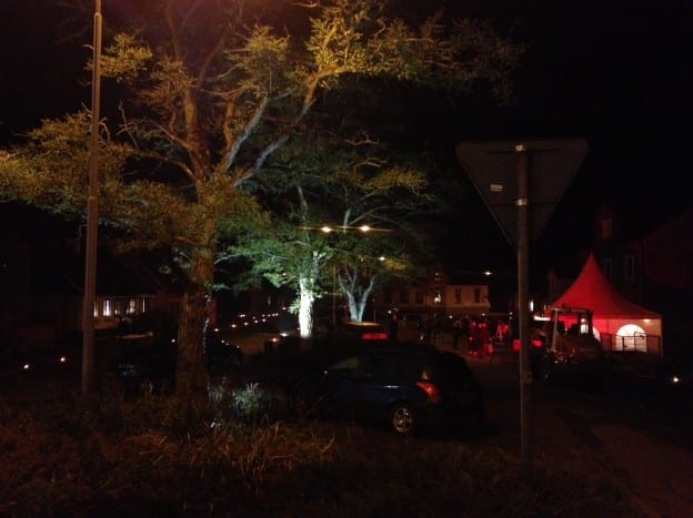 Torget i Borrby väntar på löparna i Österlen Maraton