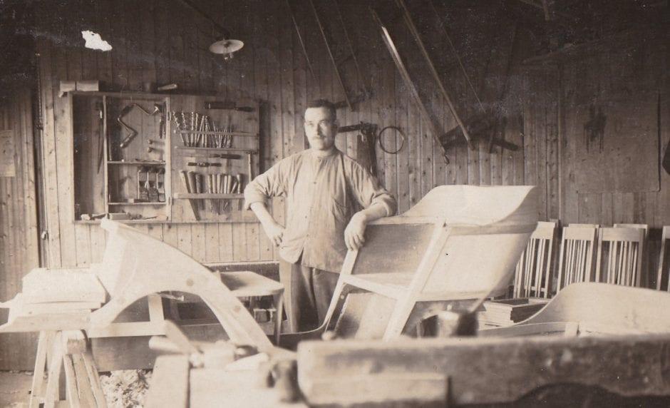 Snickarmästare Olof Jakobsson ca 1925