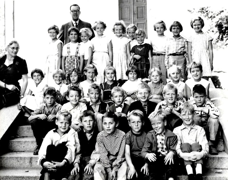 Skolklass Borrby 1957