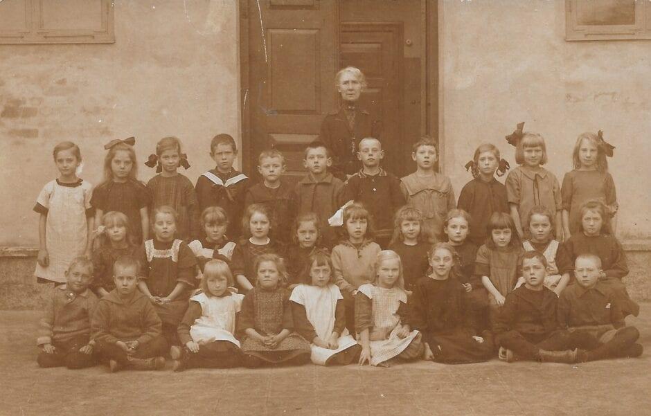 Skolklass Borrby 1920-tal