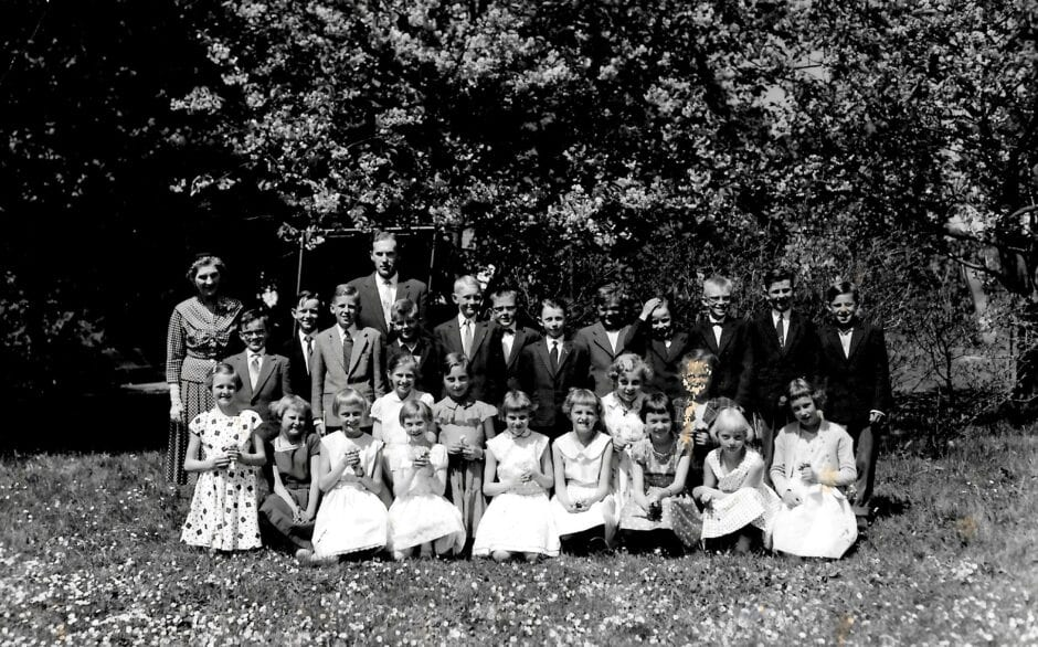 Skolklass Borrby 1958