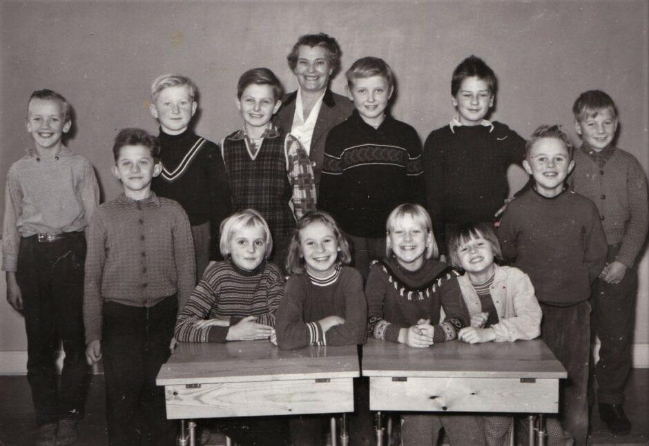 Skolklass Sandby 1958