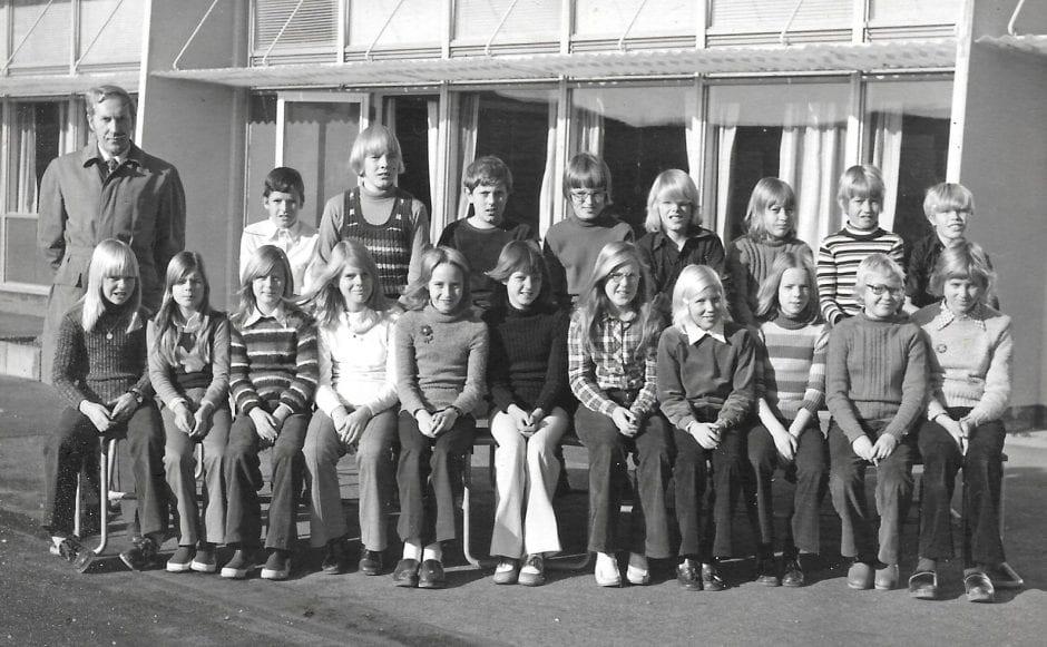 Skolklass Borrby 1973