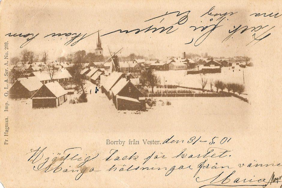 Borrby från väster 1901