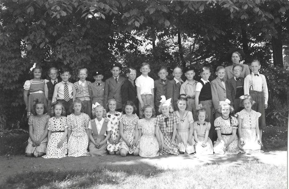 Skolklass Borrby 1950