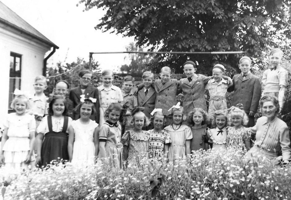Skolklass Borrby 1948 -sommar